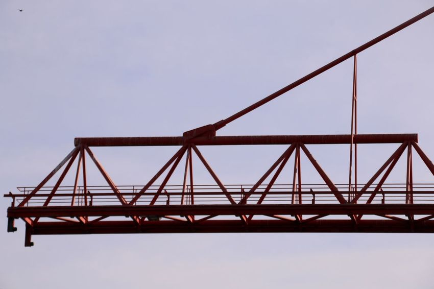 Container Crane Industry Business Red Crane - Construction Machinery Industrial Equipment