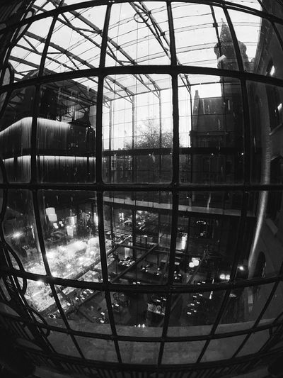 Indoors  Architecture Close-up Conservatorium Van Amsterdam Lighting Effects Interior Design Architectural Design Interior Decoration Netherlands IPhoneography Light And Shadow Illuminated Architecture Black & White Black And White Patterns & Textures Old And New Architecture Moment Lens Superfish Atrium Behind The Window