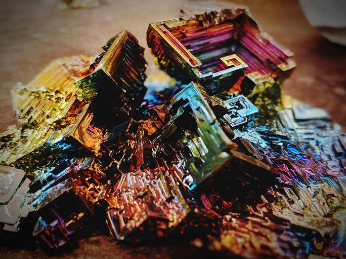 oxidized half-life Bismuth Element Oxidized Metallic Halflife EyeEm Selects Multi Colored Close-up Modern Art
