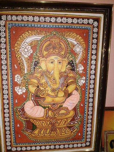 Ohm MahaGanapathaye Nama Paintings God Art Clash Of Colour