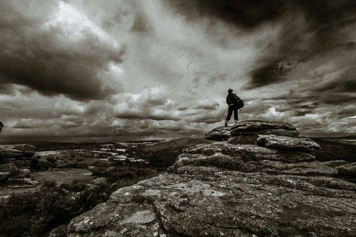 Dartmoor Landscape Traveling Monochrome The Adventure Handbook
