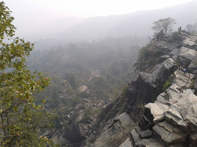 Beauty In Nature Danger Eco Tourism Fog Growth India Landscape Mountain Nature Outdoors Peak Rocky Mountains Scenics Sky Trench Waterfall
