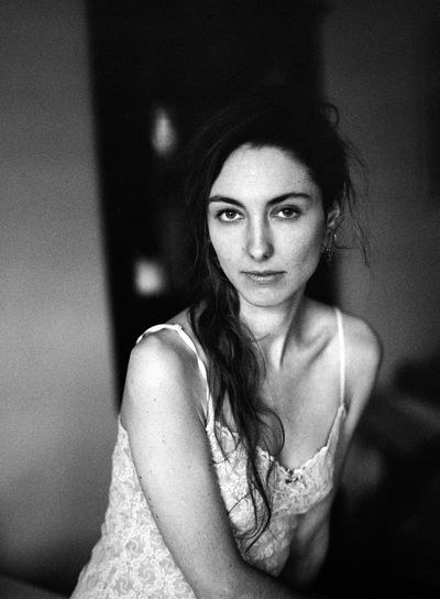 Adult Analog Beautiful Woman Beauty Blackandwhite Contemplation Focus On Foreground Front View Hairstyle Indoors  Leisure Activity Lifestyles Long Hair Looking At Camera Mediumformat One Person Portrait Real People Waist Up Women Young Adult Young Women