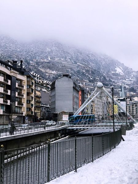 Built Structure Architecture Winter Cold Temperature Building Exterior Snow One Person River Men Outdoors Railing Nature Day Sky Bridge - Man Made Structure Water Real People Mountain Snowing One Man Only EyeEm Gallery EyeEm Best Edits EyeEm Best Shots