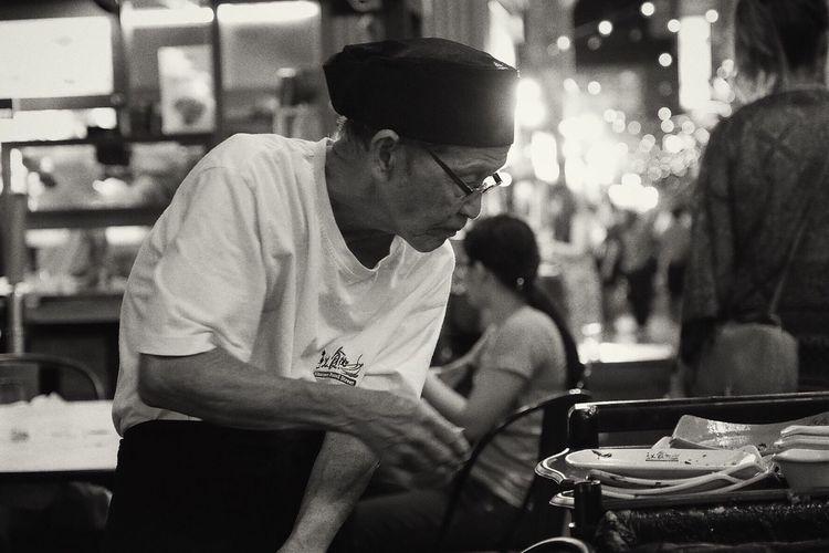 Blackandwhite Oldman Spirit Work Monochrome