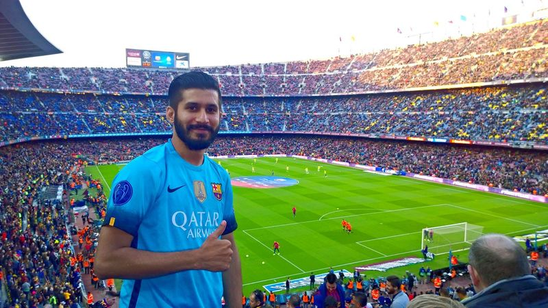 Campnou Stadium Soccer Sport Crowd Barcelona Messi Elclasico SPAIN India Viscabarca Soccer Field Outdoors Fan - Enthusiast Cheering Happiness
