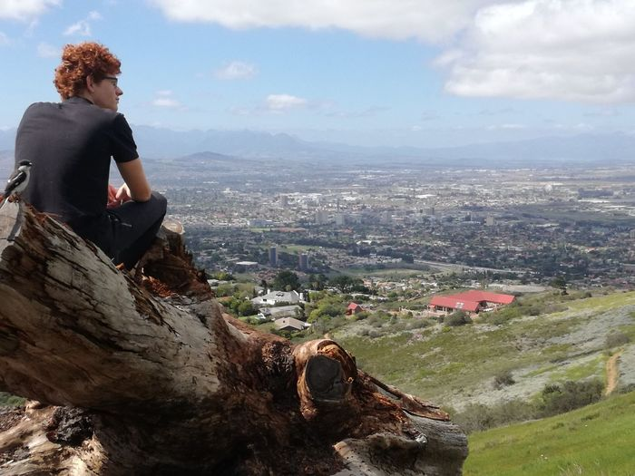 Clouds And Sky Guy Hilltop Landscape Mountain Person Redhead View From Above