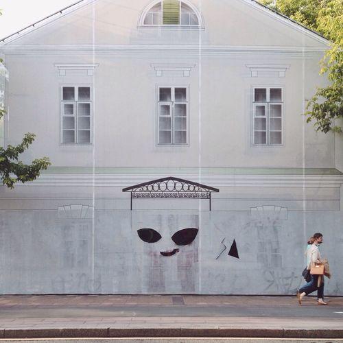 Meet Casper the Friendly Ghost, Moscow edition Street Art Moscow Summer