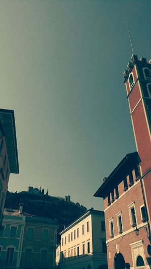Architecture Building Exterior Built Structure Low Angle View No People Outdoors Government Clock Tower City Day Politics And Government Clock Clear Sky Cityscape Sky Clock Face Marostica Marostica