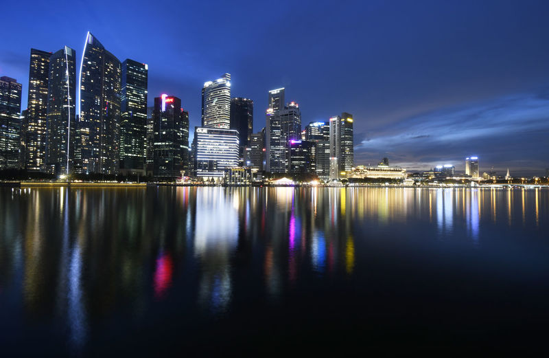 Waterfront by night