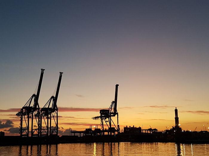 Il tramonto al porto di Genova EyeEm Selects No People Cloud - Sky Travel Destinations High Angle View City Sky Dramatic Sky Outdoors Landscape Urban Skyline Sunset Cityscape