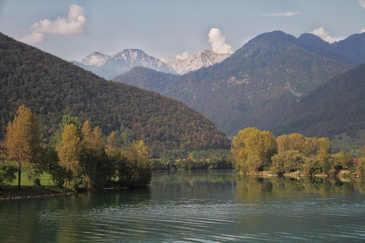 Want to be up there? Me too... Mountain Scenics Mountain Range Lake Idyllic Outdoors Landscape Most Na Soci Slovenia Julian Alps