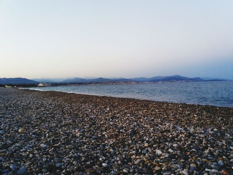 Beach Tranquility Nature No People Beauty In Nature Water Pebble Beach Relaxing Panoramic View Vue Mer EyeEm Vision Paysage The Montains