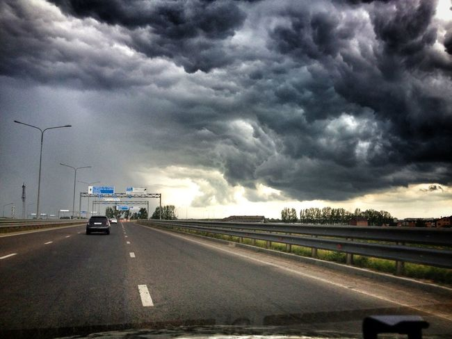 On The Road Clouds And Sky Stormy Weather