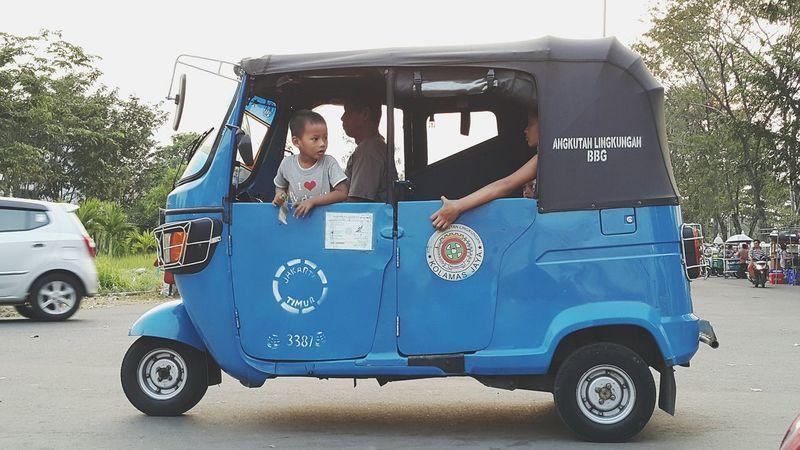 Bajaj on the road Public Transportation Public Viewing Streetphotography Humaninterest Jakarta Indonesia Ramadhan