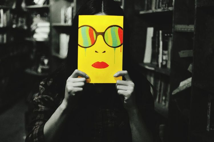 Spot Of Color Face Taking Photos Hi! Photography Showcase: December Anonymousnate Capture The Moment Say Cheese Yellow Blackandwhite Glasses