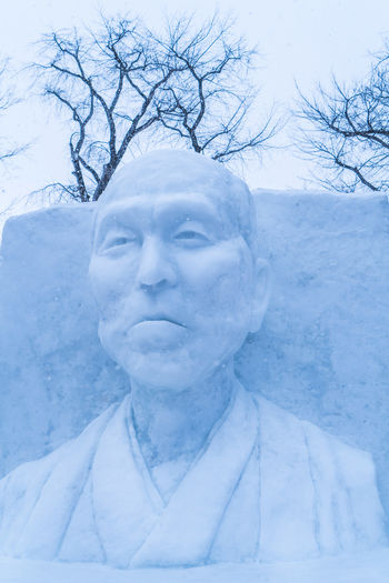 Sapporo Snow Festival Feb 2018 Japan Japan Photography Japanese  Sapporo,Hokkaido,Japan Snow ❄ Bare Tree Close-up Cold Temperature Contemplation Day Extreme Weather Front View Frozen Headshot Human Face Leisure Activity Nature One Person Outdoors Plant Portrait Real People Sapporo Snow Snow Covered Snowing Tree Warm Clothing Winter