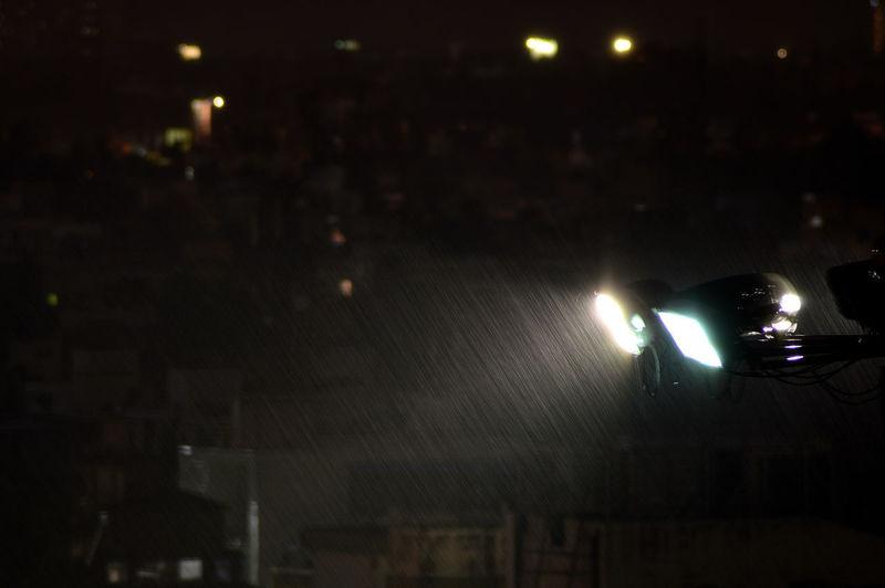 The Week On EyeEm Night Illuminated Car No People Outdoors Rain Blurred Motion