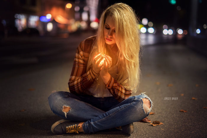 The light JuergenBauerPictures Sensual 💕 Female Model Model Photographer Photography Modeling Model Shoot Night City One Person Adult Illuminated Sitting People Street City Life Only Women One Woman Only Long Hair Casual Clothing Lifestyles Adults Only Young Women