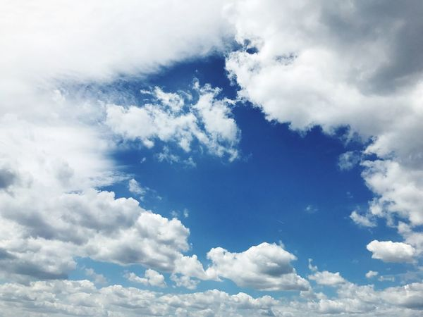 Sky Clouds Hole In The Sky Cloud - Sky Fluffy Nature White Color Beauty In Nature Backgrounds Cloudscape Sky Only Scenics Blue Low Angle View No People Day Tranquility Full Frame Outdoors