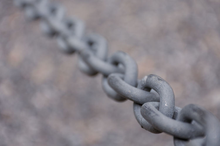 Close-up of chain against blurred background
