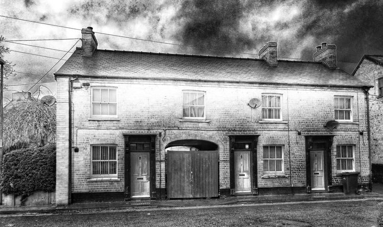 Houses And Windows Light And Dark Shadows & Lights For The Love Of Black And White Heavy Edits Taking Photos Explore Your City Back Road  Historical Building Old Buildings Old Town so many old buildongs here ... Newtown Powys Sunset #sun #clouds #skylovers #sky #nature #beautifulinnature #naturalbeauty #photography #landscape