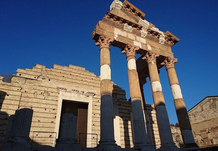 Architecture History Old Ruin Architectural Column Clear Sky Sky Ancient Civilization Roman Brescia Sunny Day Travel Destinations Outdoors