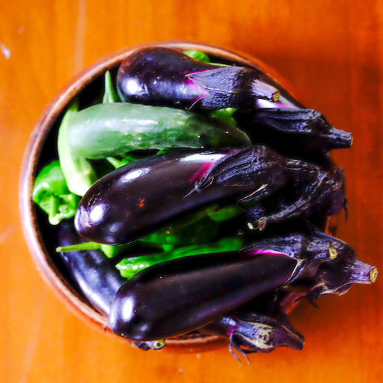 Bird's Eye View Close-up Cucamber Detail Eggplants EyeEm Best Shots EyeEm Gallery EyeEm Nature Lover Focus On Foreground Fresh Vegetables FUJIFILM X-T1 Fujifilm_xseries Green Color Green Pepper Multi Colored No People Perple Selective Focus Still Life 夏野菜