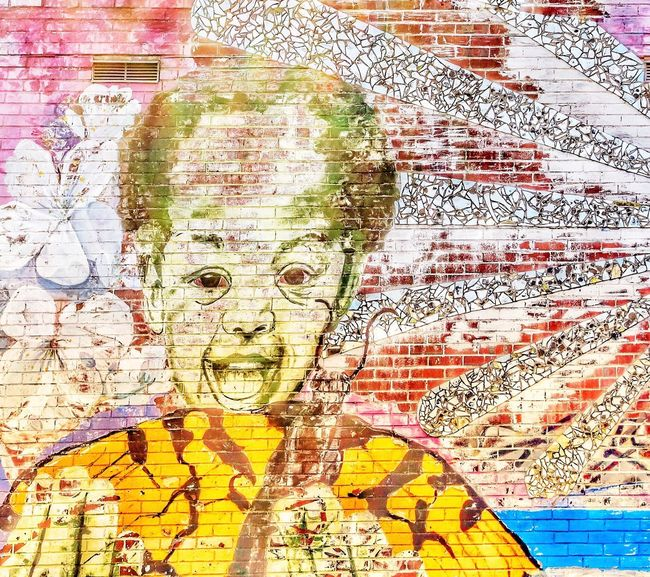 Public art in Washington, DC Human Face Painted Image Large Group Of People Adult People Only Men Young Adult Adults Only Travel Travel Destinations JGLowe Washington, D. C. Public Art Public Artwork Mural Wall