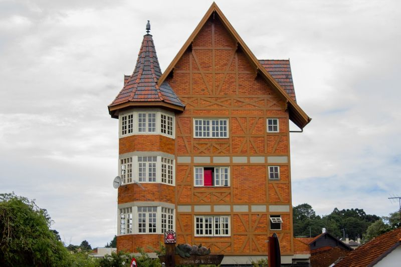 Architecture Building Exterior Built Structure Canon Canon Photography City Cloud - Sky Day Enxaimel Gramado/RS Low Angle View Outdoors Sky Tower Tree