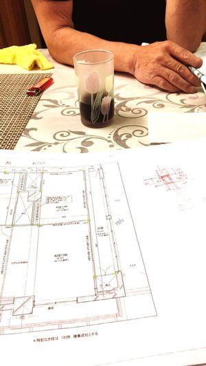 図面を読みながら建物のイメージを