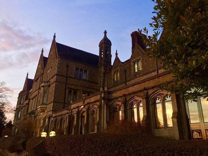 Priory Architecture Hotel Night Sunset
