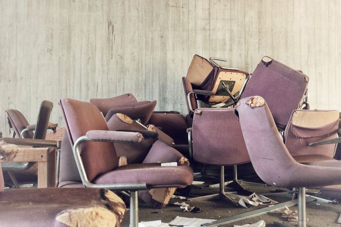 | Abandoned | EyeEm Selects I Luoghi Dell'abbandono Chair Stack Furniture Folding Chair Deterioration Waste Management Bad Condition Abandoned Deck Chair Obsolete Damaged The Still Life Photographer - 2018 EyeEm Awards The Creative - 2018 EyeEm Awards The Traveler - 2018 EyeEm Awards Creative Space
