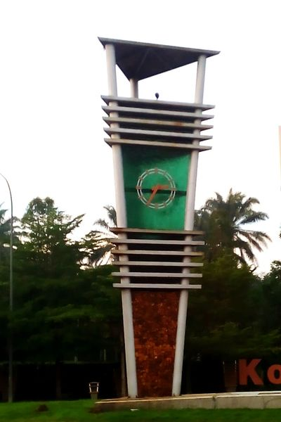 Green Color No People Day Clock Tower Clocks At Street