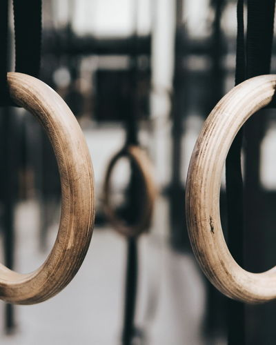 Rings Gymnastics Crossfit Starostka Circle Hanging Focus On Foreground No People Close-up Day Indoors