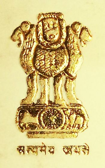 Satyameva Jayate Gold Colored Precious Gem Day Close-up Indoors  No People Gold Indian National Emblem Nation Love Love To Be Indian