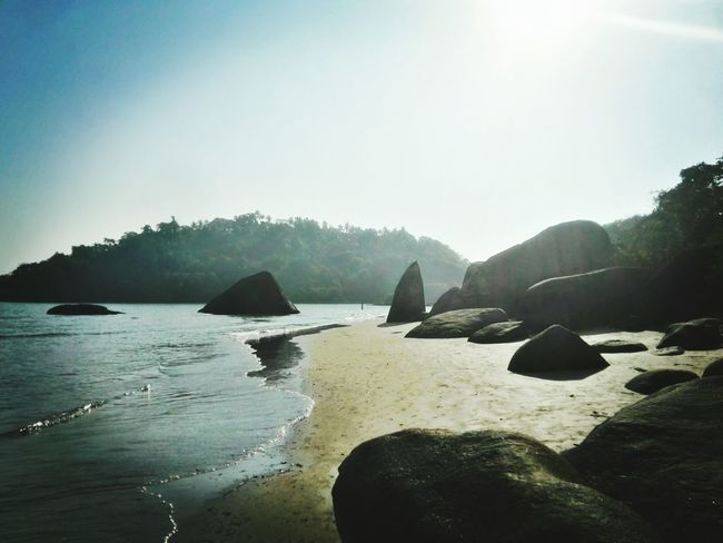 No People Nature Water Outdoors Fog Beauty In Nature Beach Mountain Landscape Day Scenics Sky Stone Rocks Rock - Object Tranquility Shark Palolembeach Palolem Palolem Beach Goa India. Love Nature Beauty In Nature