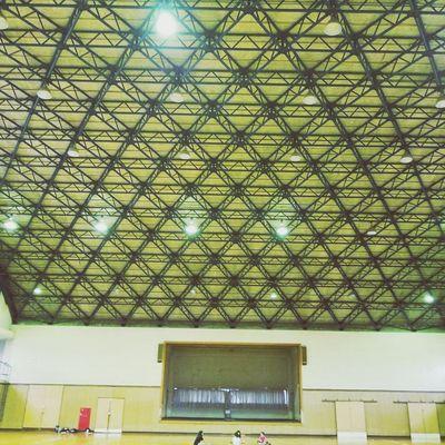 gymnasium  A wonderful framework 骨組み 体育館 A Wonderful Framework Gymnasium Ceiling Architecture Built Structure