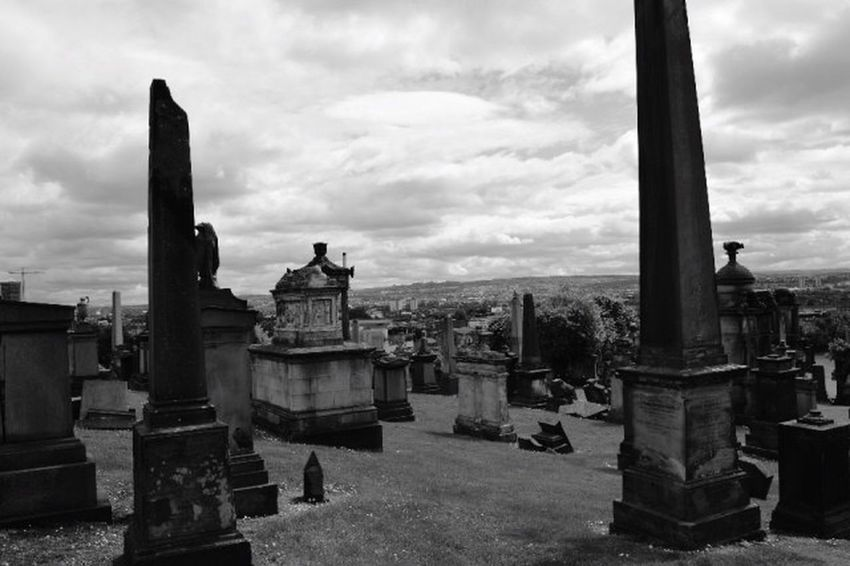 Glasgow  Scotland Graveyard View Adventure Traveling Photography