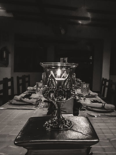 Dinner Exceptional Photographs EyeEm Best Shots Night Photography Photoshoot Black And White Candlelight Close-up Eye4photography  Indoors  Monochrome Night No People Photography Special Table