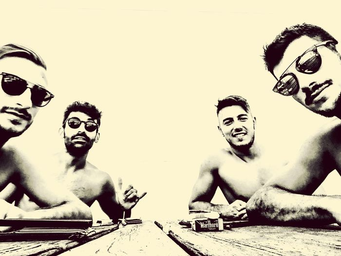 Bros Good People GoodTimes Bros Beautiful Day Beach People Adult Young Men Creativity Lifestyles Real People Happiness Portrait Human Face