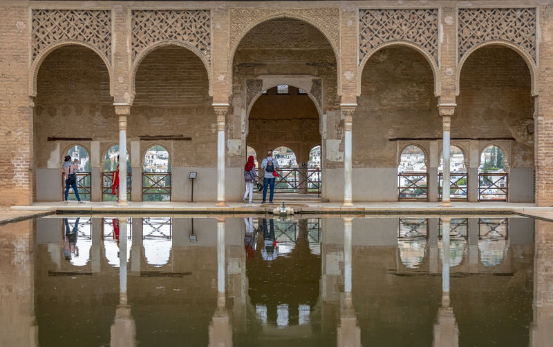 GRANADA, SPAIN - October 11, 2018: The famous Alhambra in Granada, Spain. It is a palace and fortress complex located in Granada. Granada SPAIN Alhambra Alhambra De Granada  Architecture Arabic Style Ancient Architecture Mosque Architecture Interior Design
