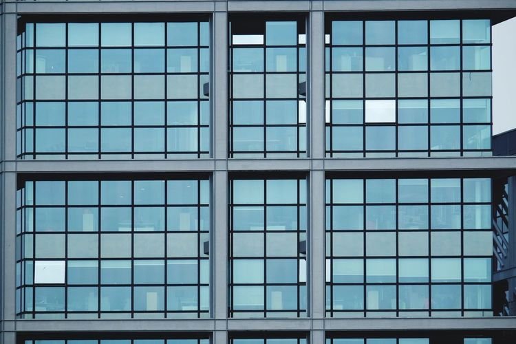 Architecture Pattern No People Backgrounds Built Structure Day Modern Indoors  Close-up Windows Housefront Greenish Patterns Office Building Office The Architect - 2017 EyeEm Awards