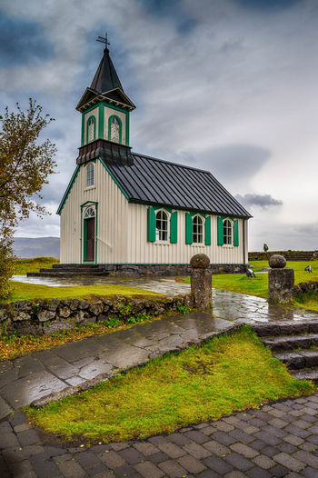 Architecture Building Exterior Business Finance And Industry Cloud - Sky Day Icelend Landscape Nature No People Old-fashioned Outdoors Place Of Worship Sky Social Issues Tingvellir