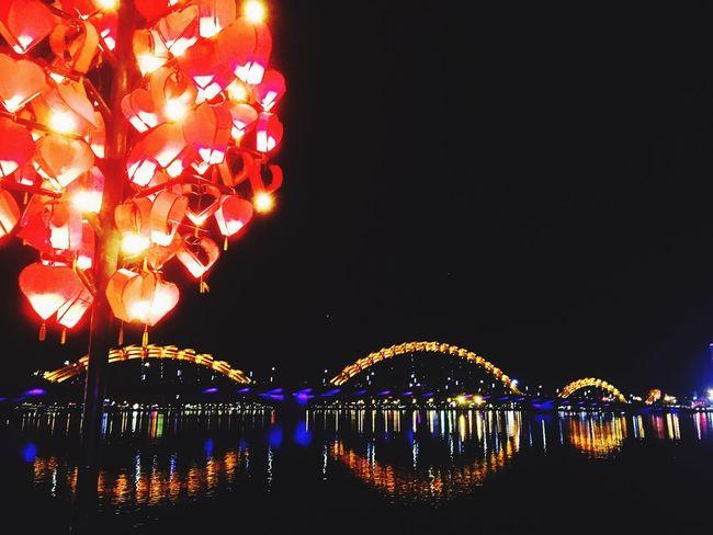 Dragon Bridge Night Bridge - Man Made Structure River