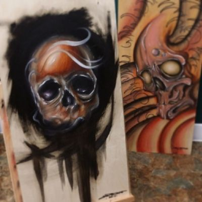 I will be doing prints of both of these for hell city in ohio 2014 Hellcitytattoo Hellcity2014 @trekell_art_supplies and will be selling the originals once sealed and framed.