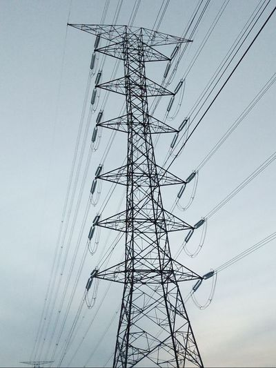 Cable Electricity Pylon Electricity  Power Line  Fuel And Power Generation Low Angle View Power Supply Technology Connection No People Day Outdoors Nature Sky