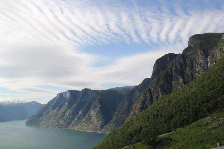 Flåm Stegastein Wiew Norway Mountain Water