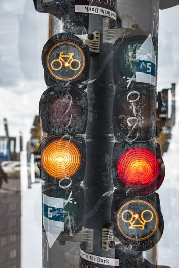 maybe. Berlin Colors Red Berlinale Bycicle Maybe Potsdamer Platz Streetphotography Traffic Lights Yellow Mobility In Mega Cities Colour Your Horizn