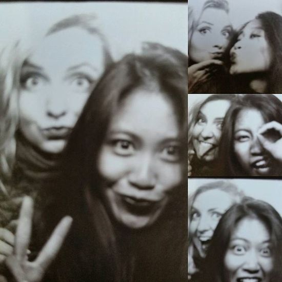 YOU + ME = AWESOME    You Me Awesome Friend Friendship Missu LastWeekend  Photobooth Photoautomat Portrait Berlin Berlinbynight Deutschland Loveu Fun Feelinggood Latepost Throwback Aww Heart Gals Bw
